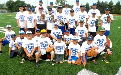 Photo by Jim Hague The first-ever North Arlington Vikings Baseball Camp was a rousing success as evidenced by the attitude and enthusiasm of the campers shown here with camp director and North Arlington head coach Paul Marcantuono (back row, c.) and some of his players.
