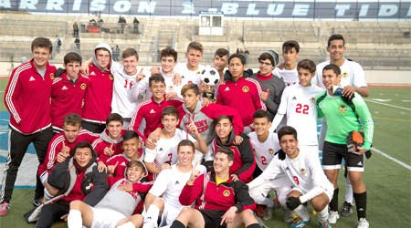 Photo by Robert Rodriguez The 2015 Hudson County Soccer Champion Kearny Kardinals