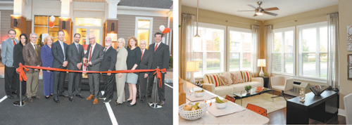 Photos courtesy Russo Development LEFT: A ribbon-cutting was held last week at Vermella Crossing. RIGHT: Interior of one of the new apartments.