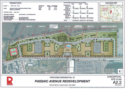 ... of Kearny Proposed layout of Passaic Ave. apartment complex in Kearny