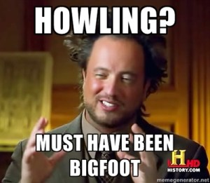 I'm not sure why someone created this meme with the Ancient Aliens guy talking about Bigfoot, but I'm using it. Matt Moneymaker would have been a better choice. But this is funnier.