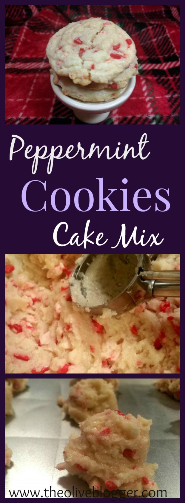 Peppermint Cookies- The EASIEST Christmas Cookies you will make this year, using boxed cake mix and a few other ingredients, you have the yummiest cookie to leave out for Santa!