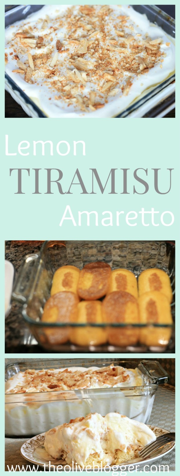 This Lemon Amaretto Tiramisu is super light and fresh tasting, and the addition of the lemon curd is seriously amazing! The cookies are dipped in a simple syrup created with Amaretto perfectly pairing with the sweetness of the mascarpone layer.