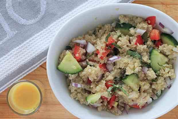 Easy Quinoa Salad Recipe with Lemon Vinaigrette