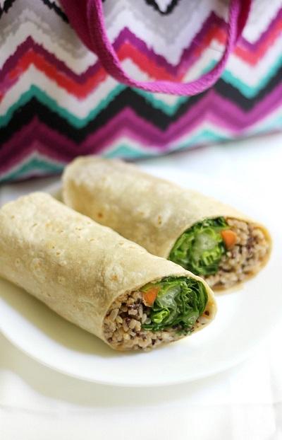 Buffalo-Tahini-Rice-Quinoa-Wraps