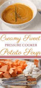 Creamy Pressure Cooker Sweet Potato Soup