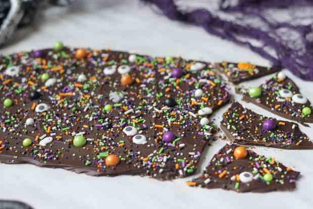 Spooky Chocolate Bark Recipe