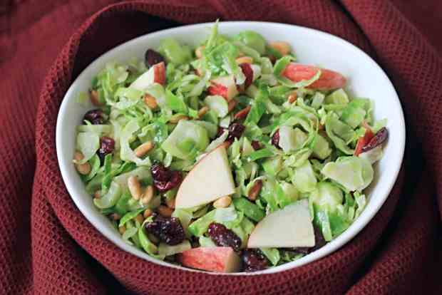 Fall Shredded Brussel Sprout Salad