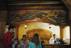 The bar at The Green Dragon