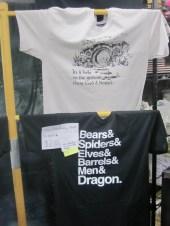 TORn shirt at Weta booth