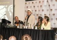 Sylvester McCoy addresses the fans in Denver