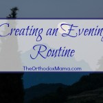 Creating an Evening Routine