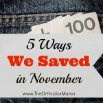 5 Ways We Saved in November