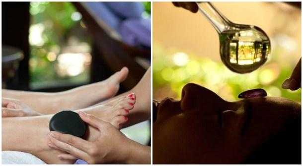 Lava Stone Reflexology & Seven Chakra Dhara Spa Therapies at Ayana Resort, Bali