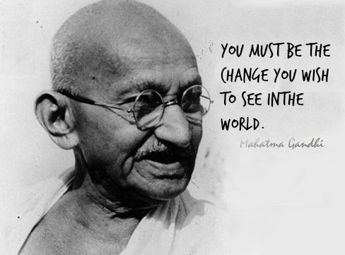 An example of a false quote commonly shared on Social Media. Gandhi never spoke the words.
