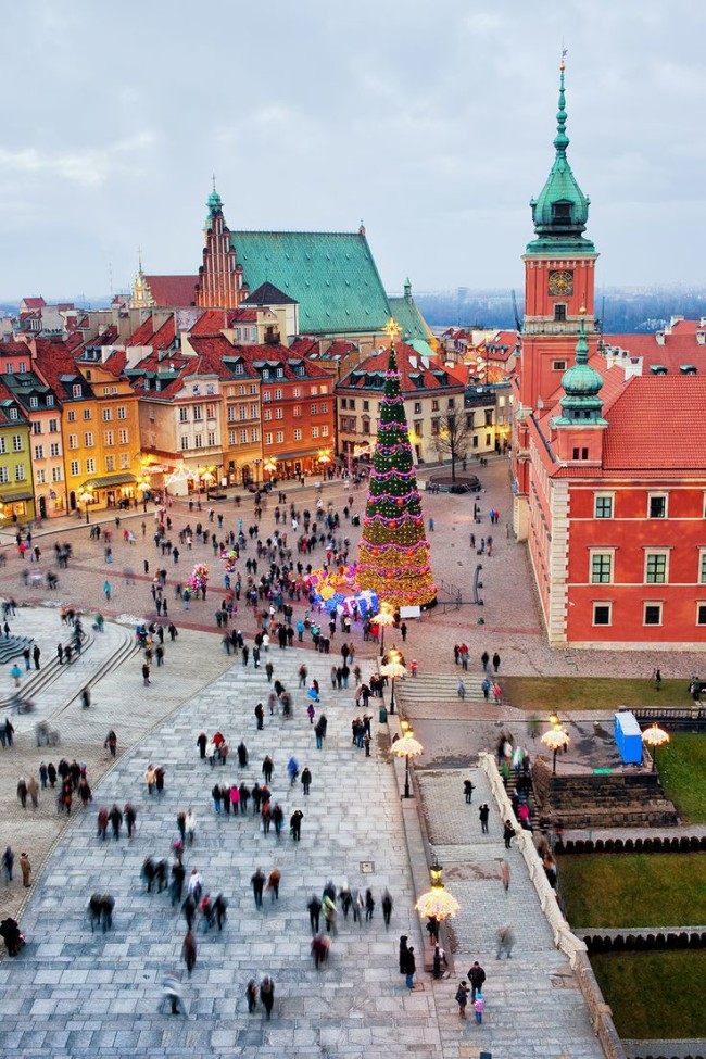 Viator Photo ID: 110274 / Orig name: Poland_Warsaw_Castle Square in the Old Town of Warsaw in Poland_Square_Christmas_Night_Illuminated_Palace_Cityscape_shutterstock_143245774.jpg / Source Type: Shutterstock / Source ID: 143245774 / Tags: Castle Square in the Old Town of Warsaw, Poland, Warsaw, Square, Christmas, Night, Illuminated, Palace, Cityscape / Uploaded by: pconnors /