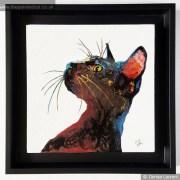 Black Cat In Resin