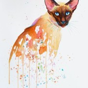Blue Topaz – Siamese Cat In Watercolour