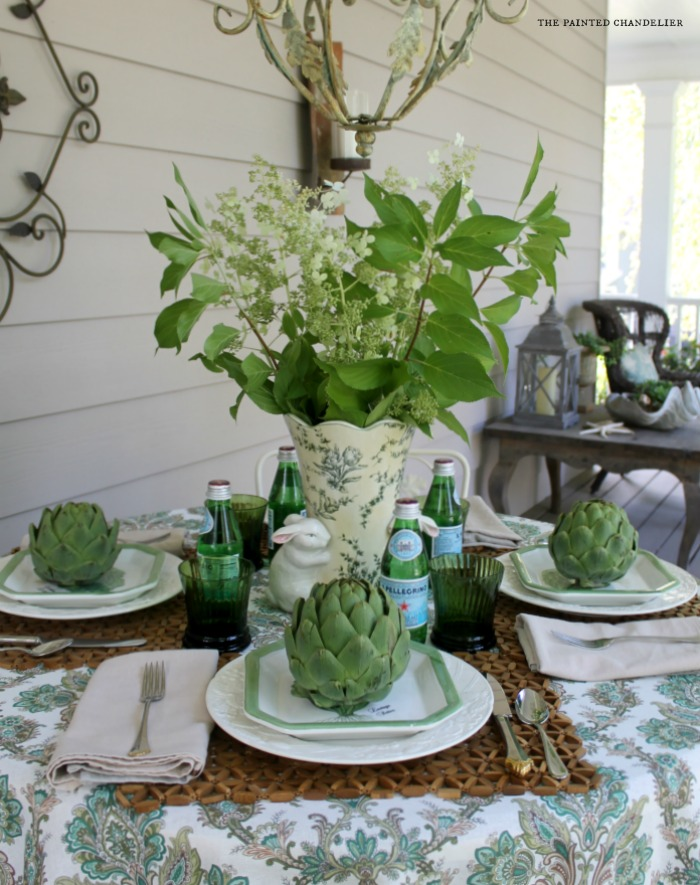 hydrangeas-artichokes-pellegrino-table-setting-rabbit-vase-the-painted-chandelier
