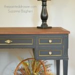 A Vintage Desk Redone in Black and Gold