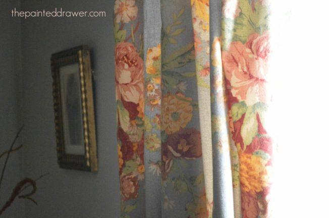 Vintage Curtain www.thepainteddrawer.com