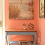 Family Room Makeover in Benjamin Moore Passion Fruit