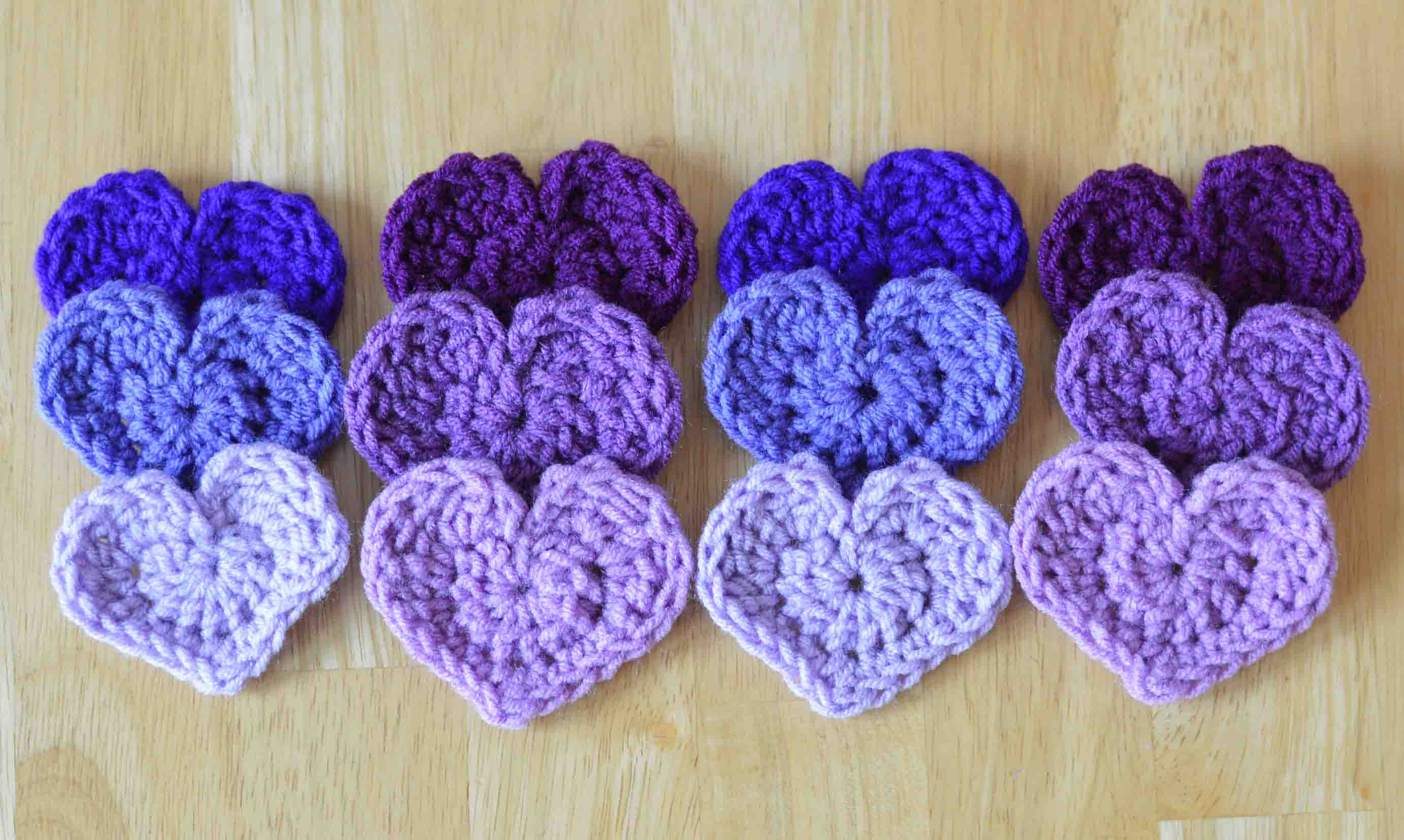 Crochet Patterns Free Red Heart : Cute Little Heart Free Crochet Pattern