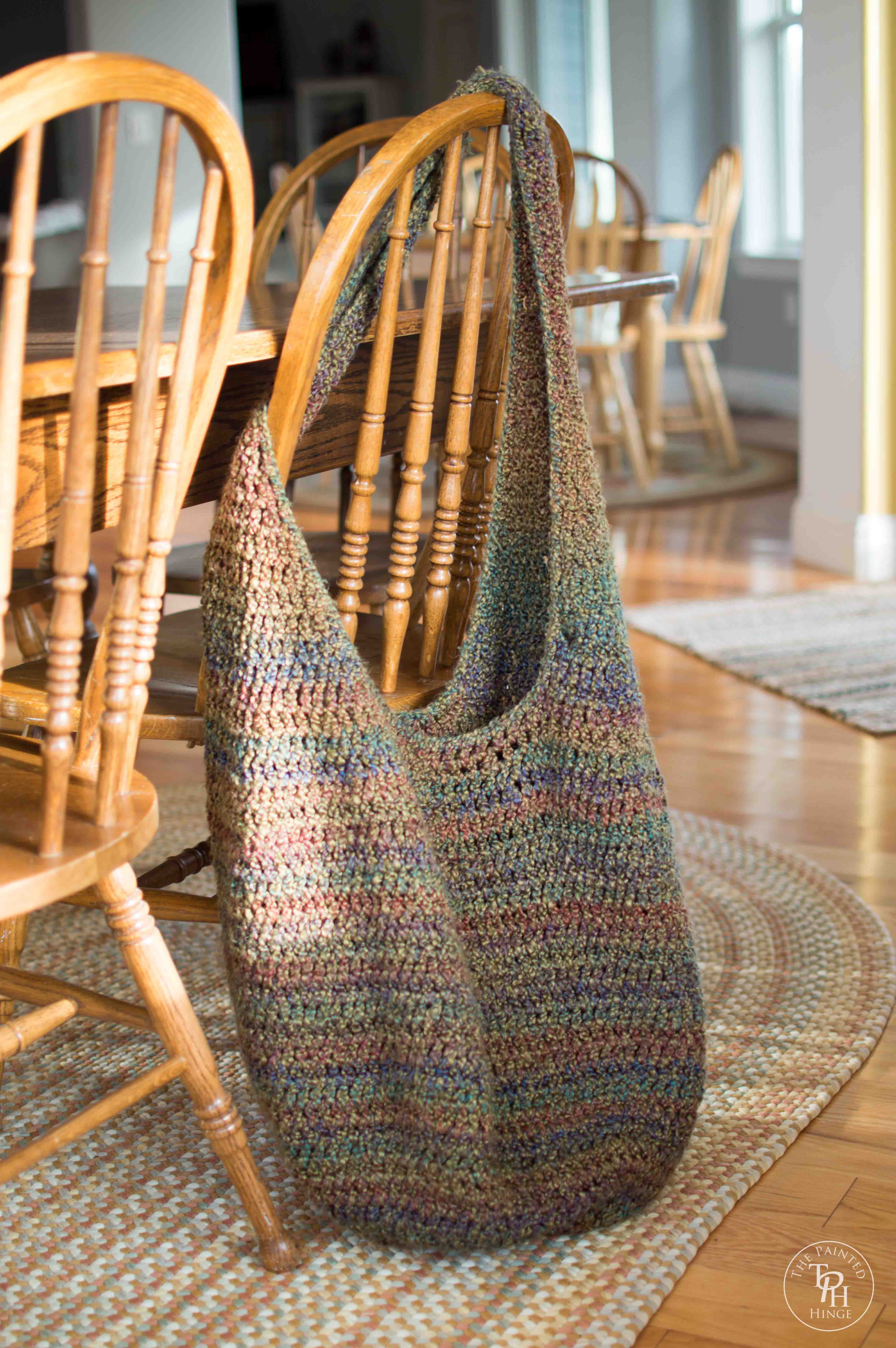 Crochet Market Bag Pattern Free : Extra Large Market Bag Free Crochet Pattern