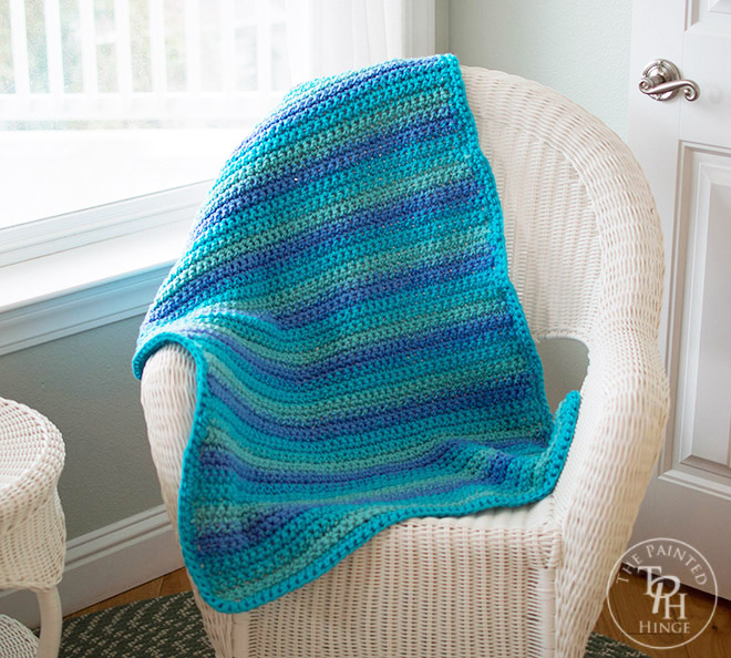 Ocean Waves Baby Blanket Free Crochet Pattern