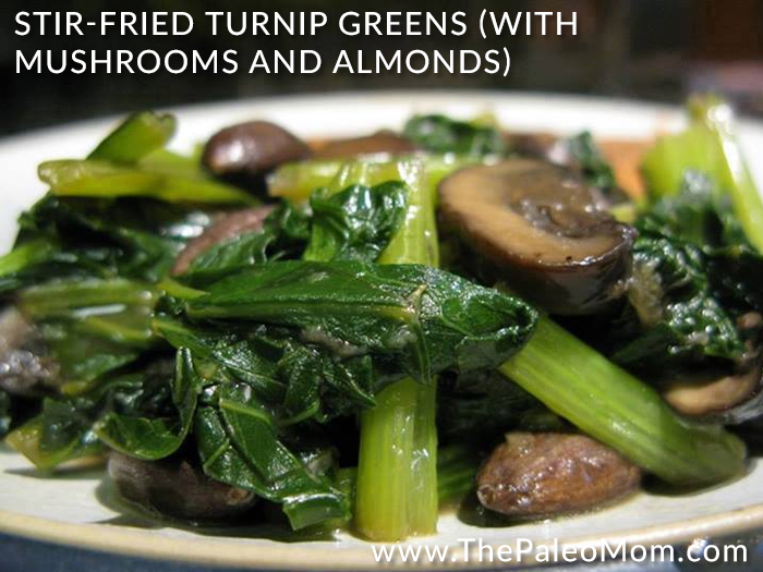 Paleo Salmon Turnip Greens Soup