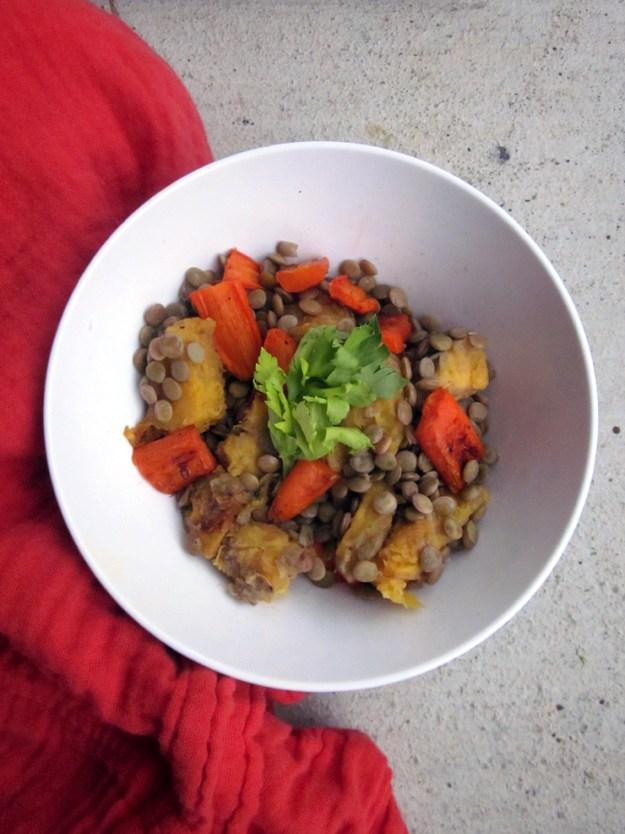 {Detox} Roasted Vegetable Lentil Salad