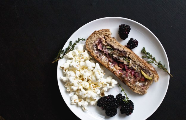 Vegetarian Pressed Picnic Sandwich // The Pancake Princess