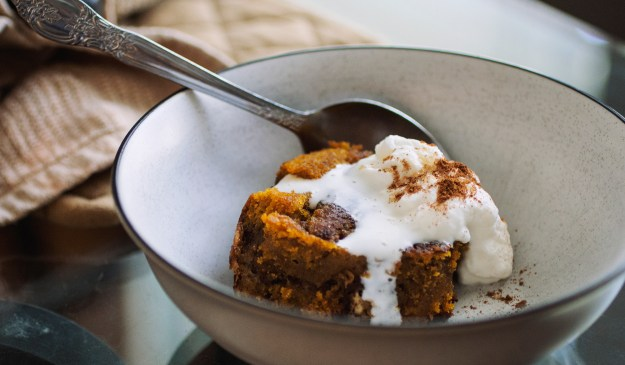 Stovetop Pumpkin Bread Pudding // The Pancake Princess