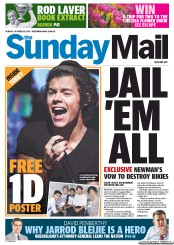 Sunday Mail (Australia) Front Page for 20 October 2013   Paperboy Online Newspapers