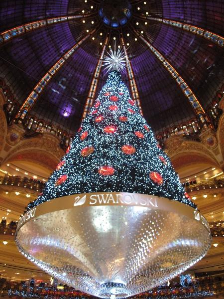 sapin de Noël des galeries Lafayette 2012
