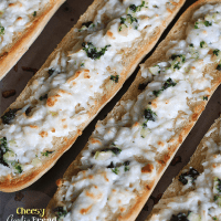 Cheesy Garlic Bread with Real California Cheese Queso Blanco