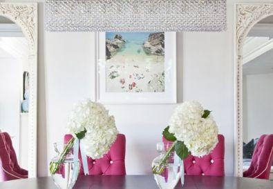 Magenta Pink Living Room