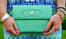 fashion blog green purse clutch