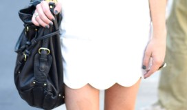 scalloped shirt and skirt fashion blogger NYFW black and white solid neutrals personal styling Dallas tx