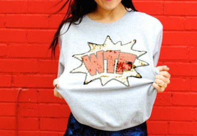 funny sweater dallas blogger humor style fashion pop art