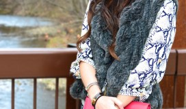 karlie dress fur vest