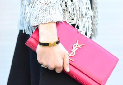 Pink YSL Clutch