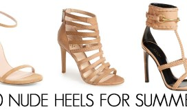 Nude Heels for Summer