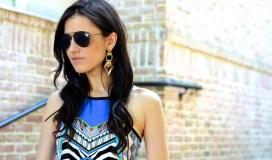 POSYfour Gold Rhombus Earrings