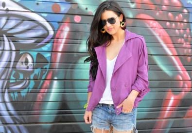 purple moto jacket