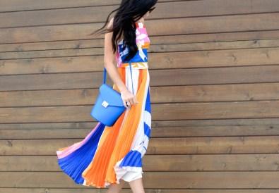 Pleated Skirt Crop Top