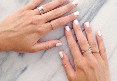 white nail polish trend