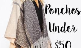 ponchos under 50