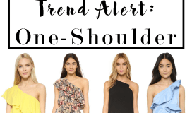 one shoulder spring trend