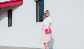 blush pleated skirt-2